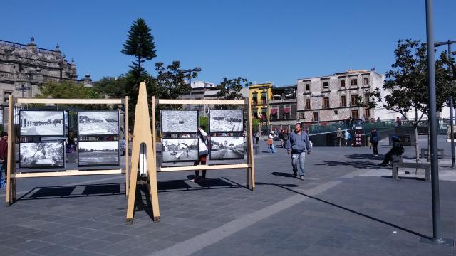 Retrato Público nos expresa el paso del tiempo en la Plaza Gamio.