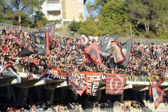 I tifosi foggiani nella trasferta di Ascoli Piceno