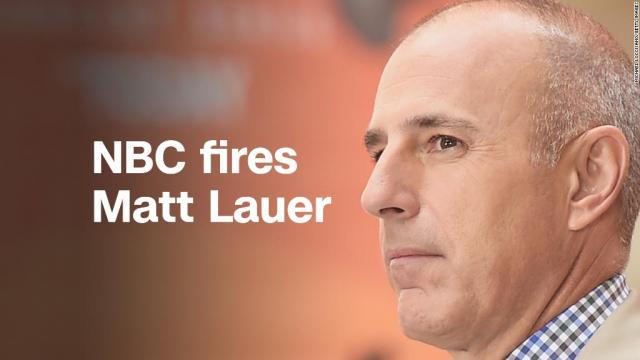 Matt Lauer fired from NBC News after complaint about ... - cnn.com