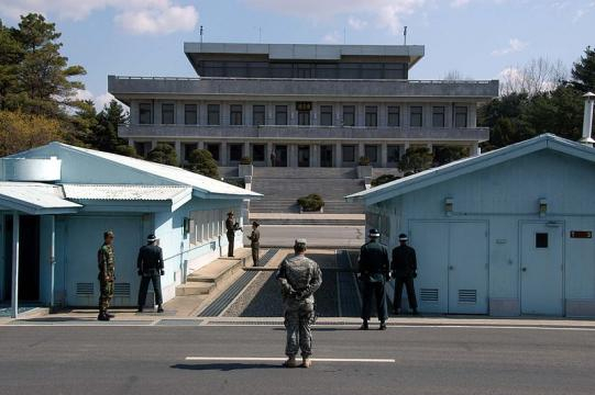 The Joint Security Area at Panmunjom (Image credit – Driedprawns, Wikimedia Commons)