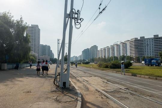 A street scene of Pyongyang (Image credit – Mario Micklisch, Wikimedia Commons)