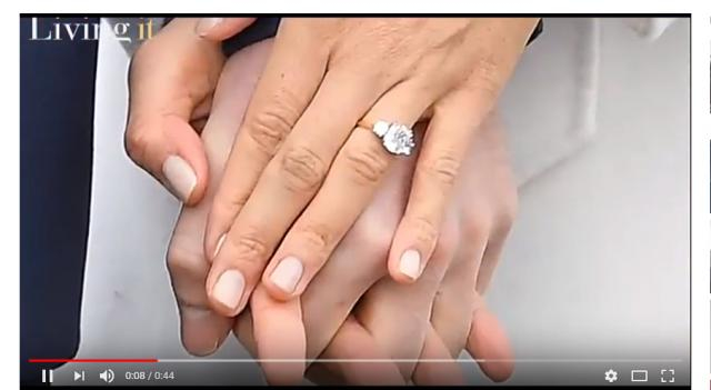 Prince Harry specifically designed Meghan's ring. (Image via Virtual News Youttube screencap).