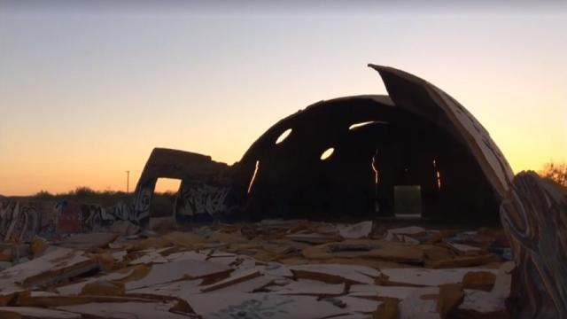 Casa Grande Domes turning into rubble - Photo courtesy of John Albrecht