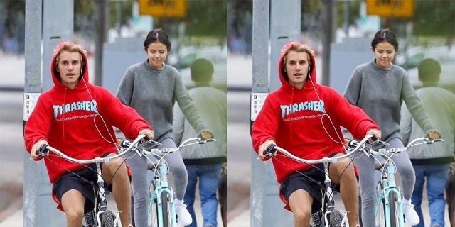 Selena Gomez y Justin Bieber juntos paseando por las calles de California