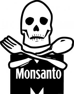 Uno de los tantos iconos que se crean para las manifestaciones contra Monsanto.