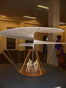 Jeden z projektów Leonarda da Vinci (fot. Krzysztof Krzak)