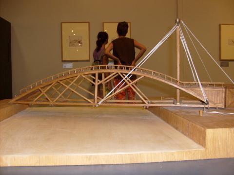 Most zwodzony Leonarda da Vinci - wystawa na Krecie (fot. Krzysztof Krzak)