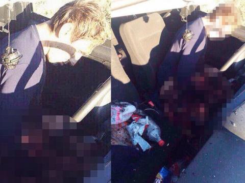 A explosão da granada dividiu o corpo do russo em duas partes (Crédito: East2West News)