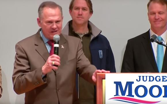 Roy Moore loses election but refuses to concede. - [Image credit: PBS Newshour/YouTube]