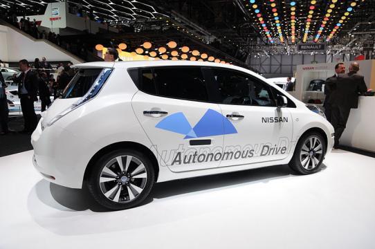 Nissan autonomous car prototype (Image credit – Norbert Aepli, Wikimedia Commons)