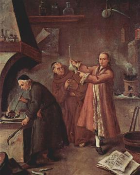 El alquimista. Pietro Longhi. S. XVIII.