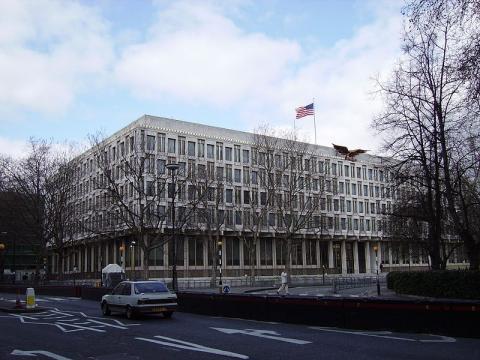 Old US Embassy in London (Image credit – Veedar, Wikimedia Commons)