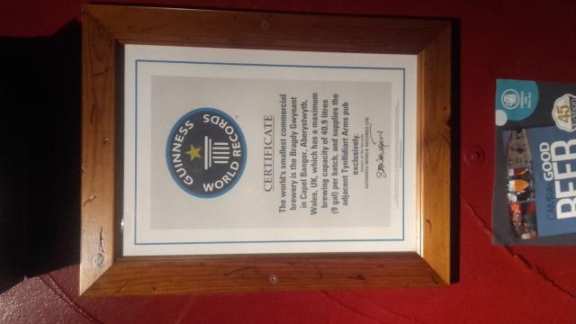 The Guinness World Record of the one pub.