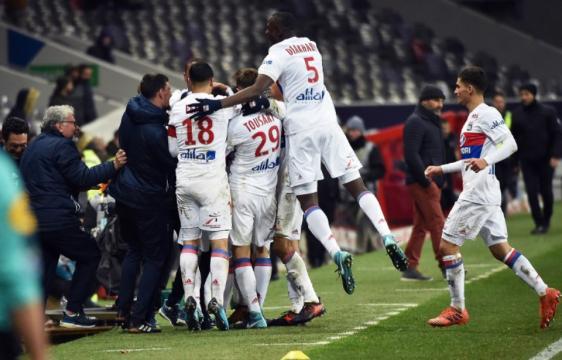 L'OL s'en sort avec de la réussite face à Toulouse. (Gabalda / AFP)