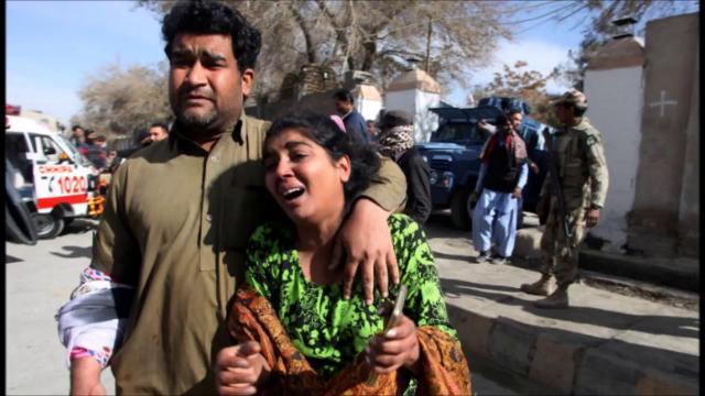 Terror attack in Quetta. Image credit (screenshot Youtube.com -TOI news)