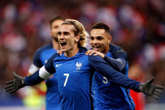 France 2 Wales 0: Antoine Griezmann and Olivier Giroud strike to ... - thesun.co.uk