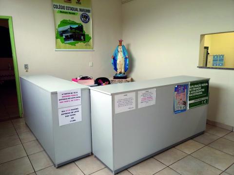 Área administrativa escolar: atendimento ao público (Foto: Fátima de Souza Rocha)