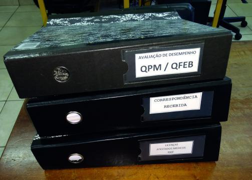 Área administrativa escolar: expedição de documentos diversos (Foto: Fátima de Souza Rocha)
