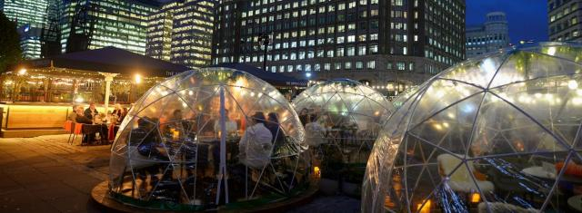 Igloo's at the Sipping Room, West India Quay , Images suppiled by Full Fat PR