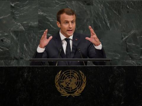 Macron à l'ONU : Assad est un