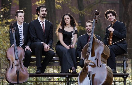 Elad and some of his fellow musicians. / Image via A. Kabilio, used with permission.