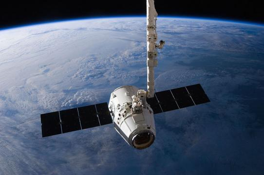 The SpaceX Dragon cargo craft (Image credit - NASA/Expedition 31, Wikimedia Commons)