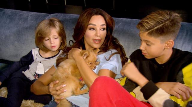 V.l.: Sohn Rocco, Verona Pooth, Sohn Diego Foto: MG RTL D / Endemol Shine