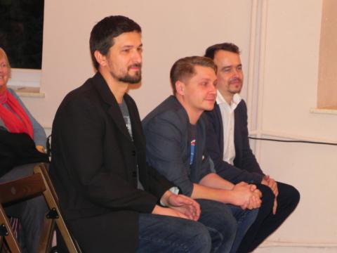 Edukatorzy: Maciej Biedka, Marcin Jedlikowski i Wojtek Mazan (fot. Krzysztof Krzak)