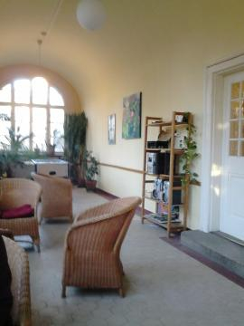 Wintergarten und Raucherraum Erdgeschoss
