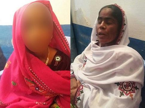 Pathani Mangrio (à esquerda) foi vendida pela própria mãe, Masmat Nabiat, para um homem de 50 anos (Crédito: Caters News Agency)