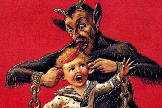 Capturava crianças que se comportavam mal o ano inteiro.