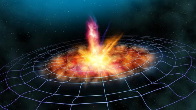 La nascita di una stella nell'universo