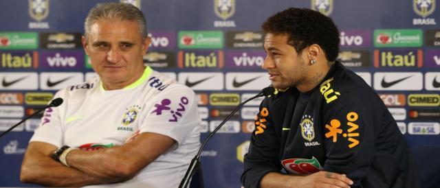 Tite e Neymar