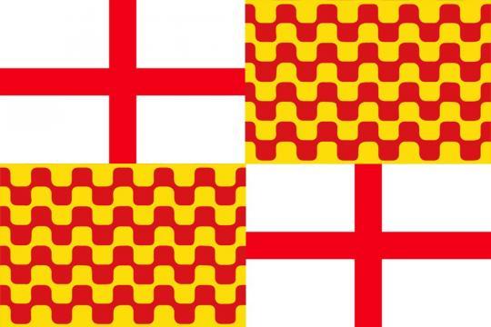La bandera de la futura comunidad autónoma, de prosperar la idea.