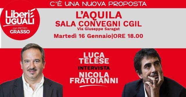 Locandina FB dell'evento del 16 Gennaio con Nicola Fratoianni