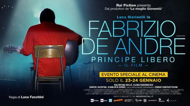 Principe Libero, al cinema per due giorni il film su De André - sentireascoltare.com