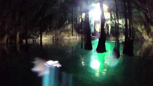 Cenote underground swimming is a hidden Mexican treasure.(Image via Yucatan Cenote Youtube screencap).