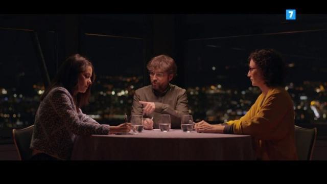 Inés Arrimadas, Jordi Évole y Marta Rovira en Salvados