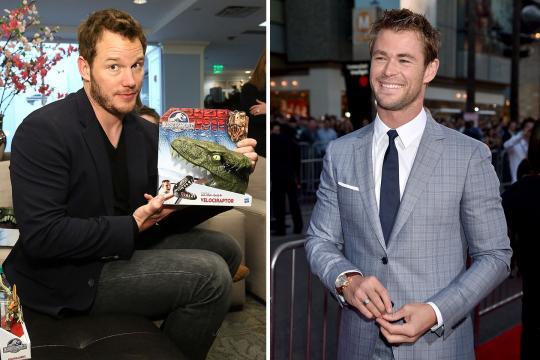 Chris Pratt e Hemsworth são astros lucrativos de 2017. (Foto Reprodução).