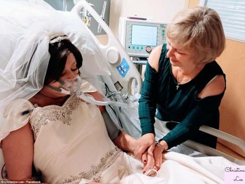 Heather Mosher s-a căsătorit cu David înainte de Crăciun, cu câteva ore înainte de a muri - Foto 3: Daily Mail (© Christina Lee/Facebook)