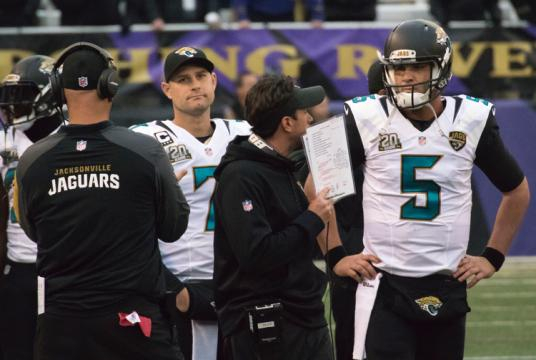Blake Bortles threw for over 300 yards and two touchdowns for the Jaguars in Week 13. Image Source: Flickr | Keith Allison