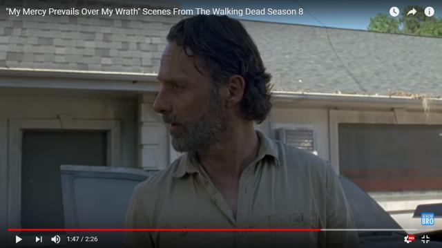 Rick Grimes in 'TWD' Season 8 premiere / Image via Daryl Dixon, YouTube screencap
