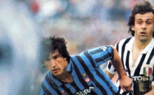 Juventus-Inter 1983, contrasto tra Bagni e Platini