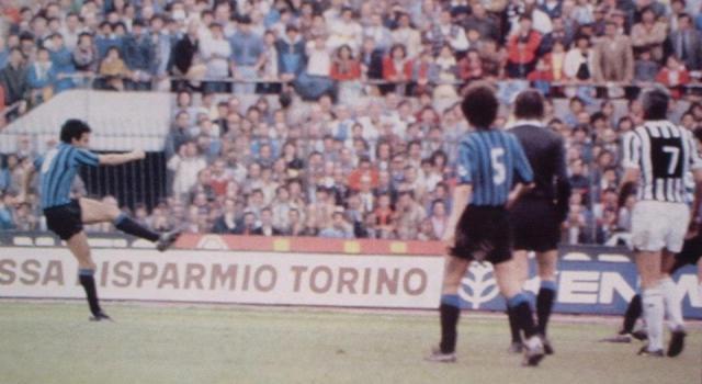 Juventus-Inter 1983, il sinistro di Hansi Muller vale il momentaneo 3-1 per i nerazzurri