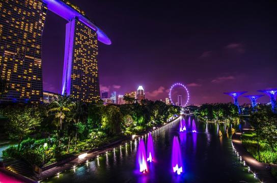 Night View of Marina Bay Sands [Image credit - Allanlau2000   Pixabay ]