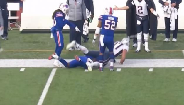 Rob Gronkowski was suspended for a late hit. - [Highlight Heaven / YouTube screencap]