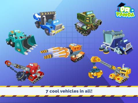 The app game gives children the opportunity to virtually drive seven different trucks. / Image via Dr. Panda, used with permission.