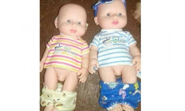 Boneca distribuída pelo governo de Goiás confunde crianças (Foto: Reprodução)