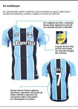Camisa do Grêmio para o Mundial (Foto: GauchaZH)