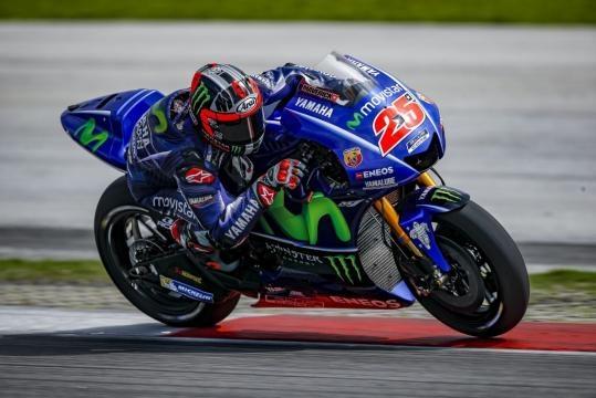 Maverick Vinales in sella alla sua Yamaha